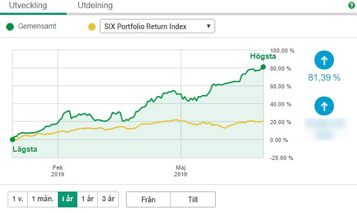 Read more about the article Första halvåret för 2019 för placeringar i aktier, index och guld